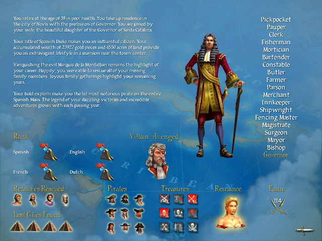 Screenshot from Sid Meier's Pirates!