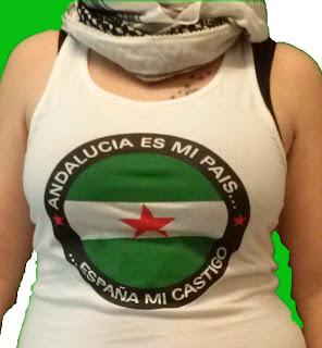 """Camiseta """"Andalucía es mi país - España mi castigo"""""""