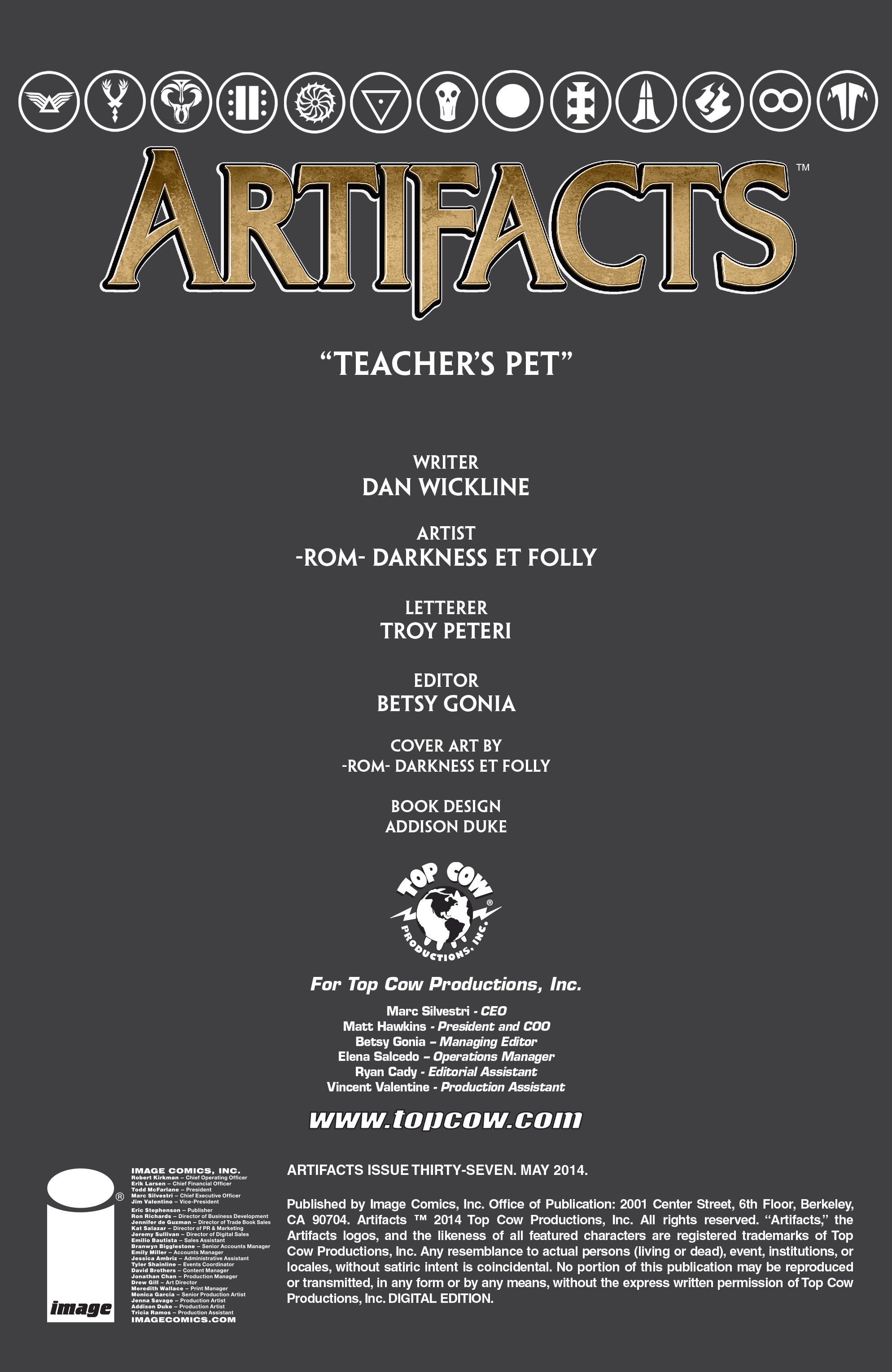 Read online Artifacts comic -  Issue #37 - 2