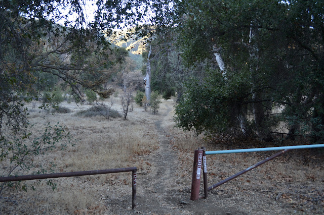 first gate on the trail, the old road
