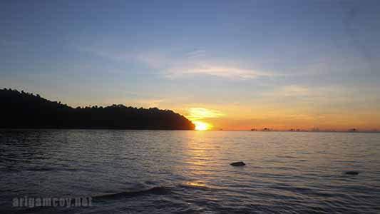 Sunset di Pulau Temajo Mempawah