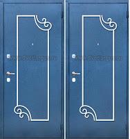 """Дверь с ковкой """"Графика"""""""