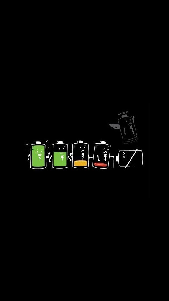 Battery Life Cycle Funny  Galaxy Note HD Wallpaper