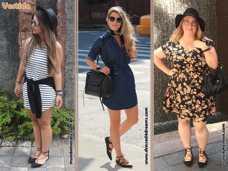 Como usar sapatilha lace up, Flats, Shoes, Sapatos, Sapatilhas de amarrar, Look, Vestido, Estilo, Moda, Fashion, Tendência