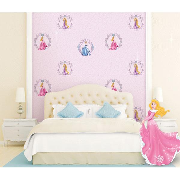 Chọn giấy dán tường hoạt hình cho phòng ngủ bé gái