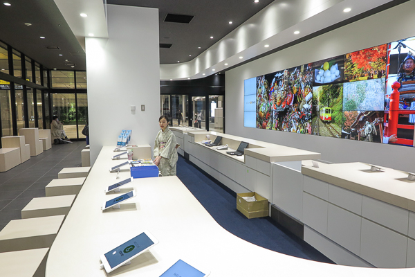 Inside the Tourist Information Center at Busta Shinjuku, Tokyo