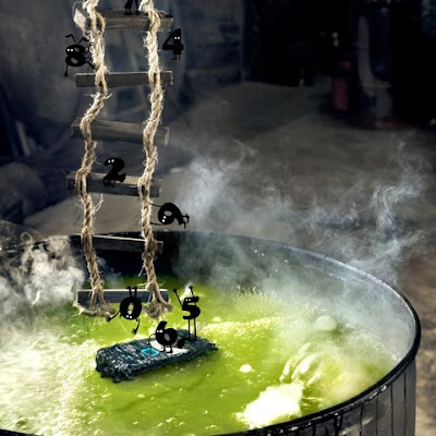 fotomontaje agua hirviendo