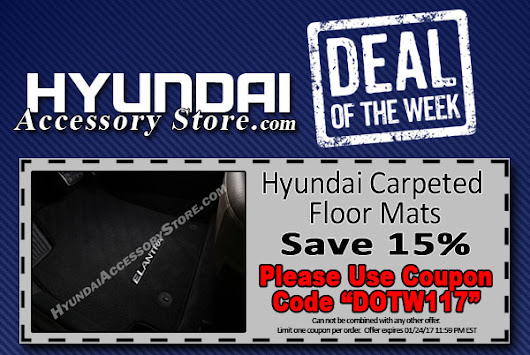 Deal of the Week: 15% off Carpeted Floor Mats