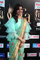 Samantha Ruth Prabhu Smiling Beauty in strange Designer Saree at IIFA Utsavam Awards 2017  Day 2  Exclusive 05.JPG