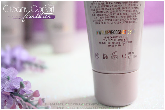 creamy confort foundation Fondotinta Neve Cosmetics makeup bio
