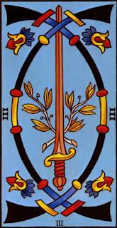 le trois d'épée
