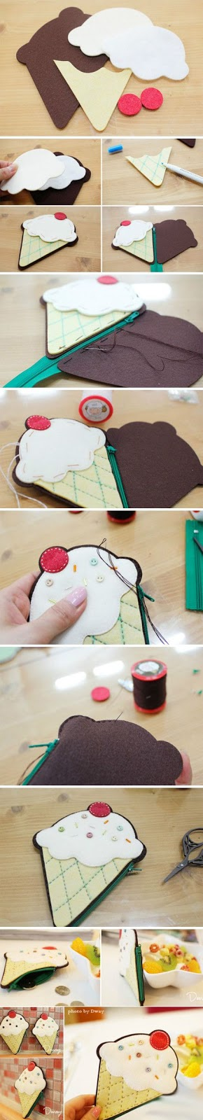 http://www.wikihow.com/Make-a-Felt-Ice-Cream-Purse