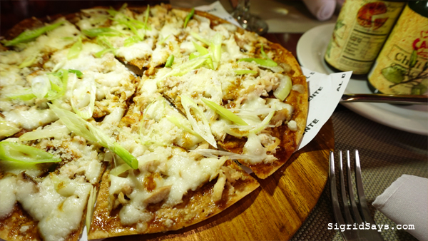 Al Dente Ristorante Italiano - Iloilo restaurant - chicken inasal pizza