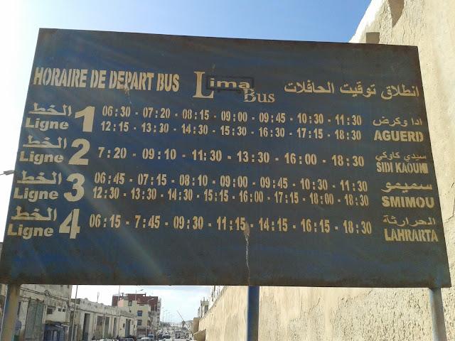 Horaires de bus pour Sidi Kaouki entre autres