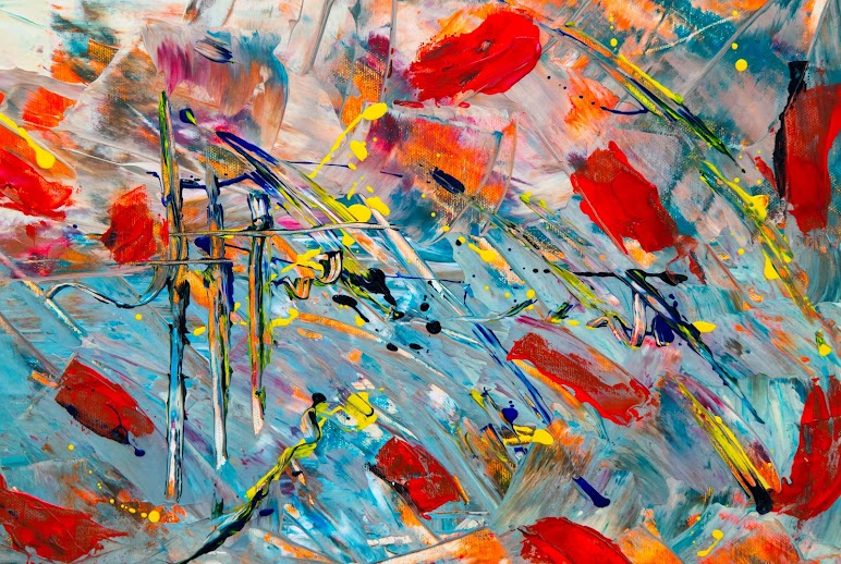 4k Wallpaper Expressionism Multicolored Abstract Painting