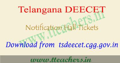 TS TTC hall tickets 2017, ts deecet hall tickets 2017