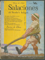 "A cover for ""Salaciones del Reader's Indigest, showing a white farmer ploughing the ground."