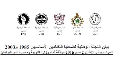 ضحايا النظامين الأساسيين 1985 و2003