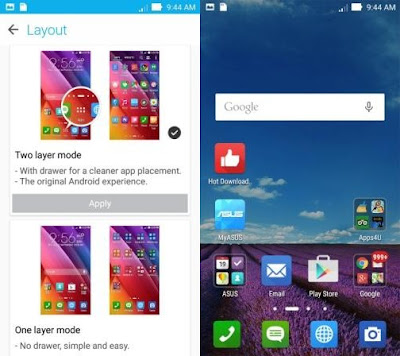 Update ASUS Launcher Terbaru Support One Layer
