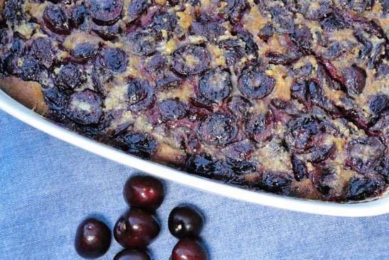 Dish of Cherries Clafouti