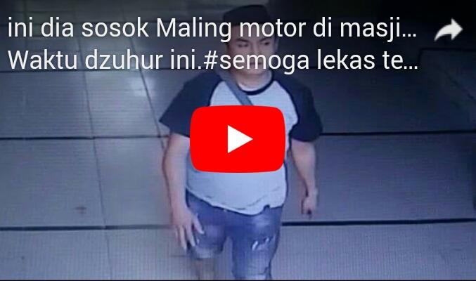 Viral! Kamera CCTV Rekam Aksi Pencuri yang Beraksi di Sebuah Masjid di Bekasi