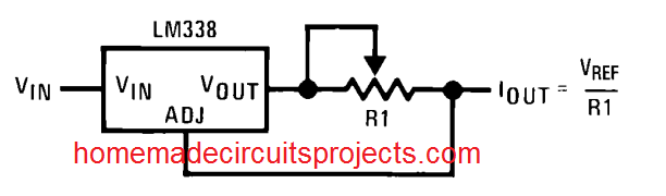 simple accurate current limiter using LM338 IC