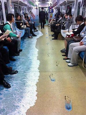 Lustige Bilder zum Wochenende - U-Bahn Strand