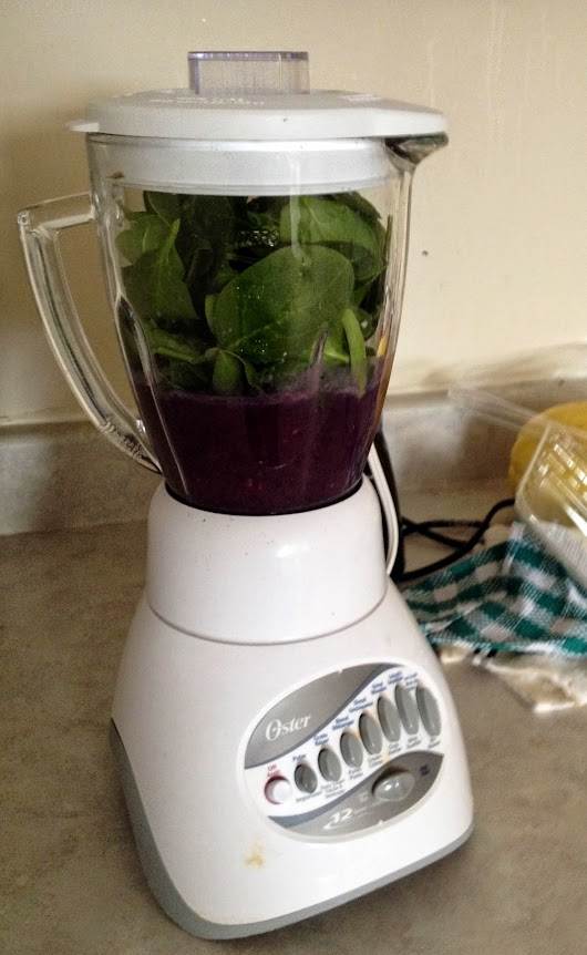 an explanation, spinach in a smoothie and 21 days sober