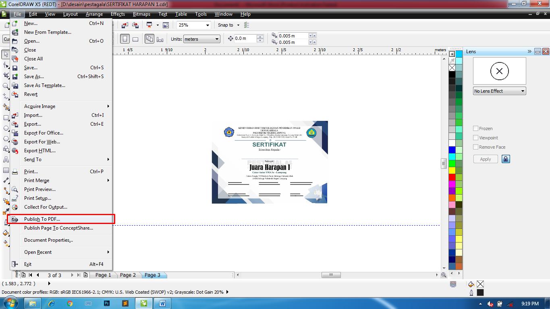 Cara mengeksport file corel draw ke pdf menjadi beberapa ...