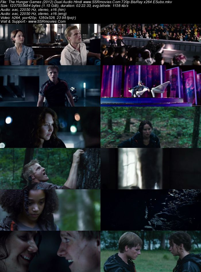 The Hunger Games (2012) Dual Audio Hindi 480p BluRay 450MB ESubs Movie Download