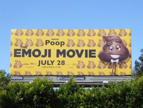 Emoji Movie Poop billboard