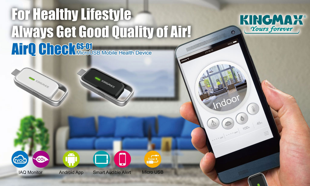AirQ Check MicroUSB Mobile Health Device
