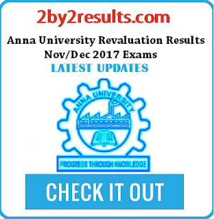Anna University Revaluation Results 2018 Nov Dec 2017 date