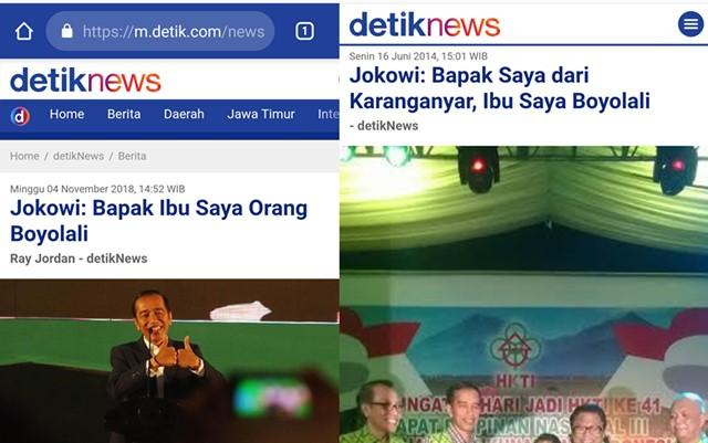 2014 Jokowi Ngaku Bapak Karanganyar Ibu Boyolali, Sekarang Ngaku Bapak Ibu Boyolali, Mana Yang Benar?