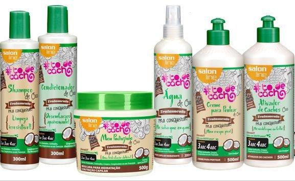 kit produtos low poo salon line