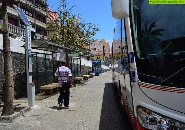 El Cabildo ofrecerá información en tiempo real del servicio de transporte público en las paradas de guaguas