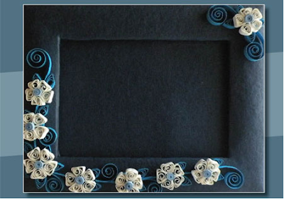Simple rectangle shape quilling photo frames online - quillingpaperdesigns