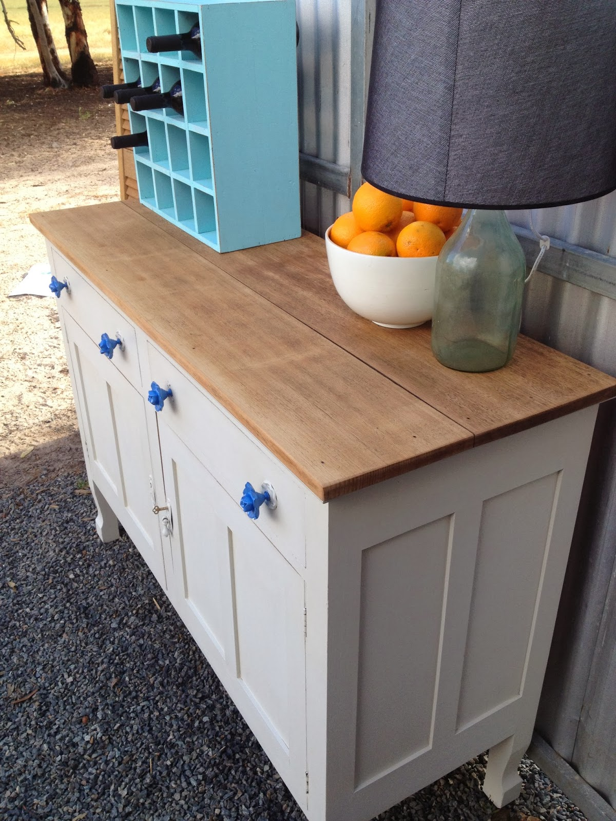 Drip Designs Furniture: Antique White Oak Buffet/sideboard