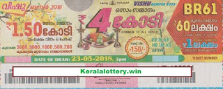 Kerala Lottery Results- VISHU BUMPER Lottery Result BR-61