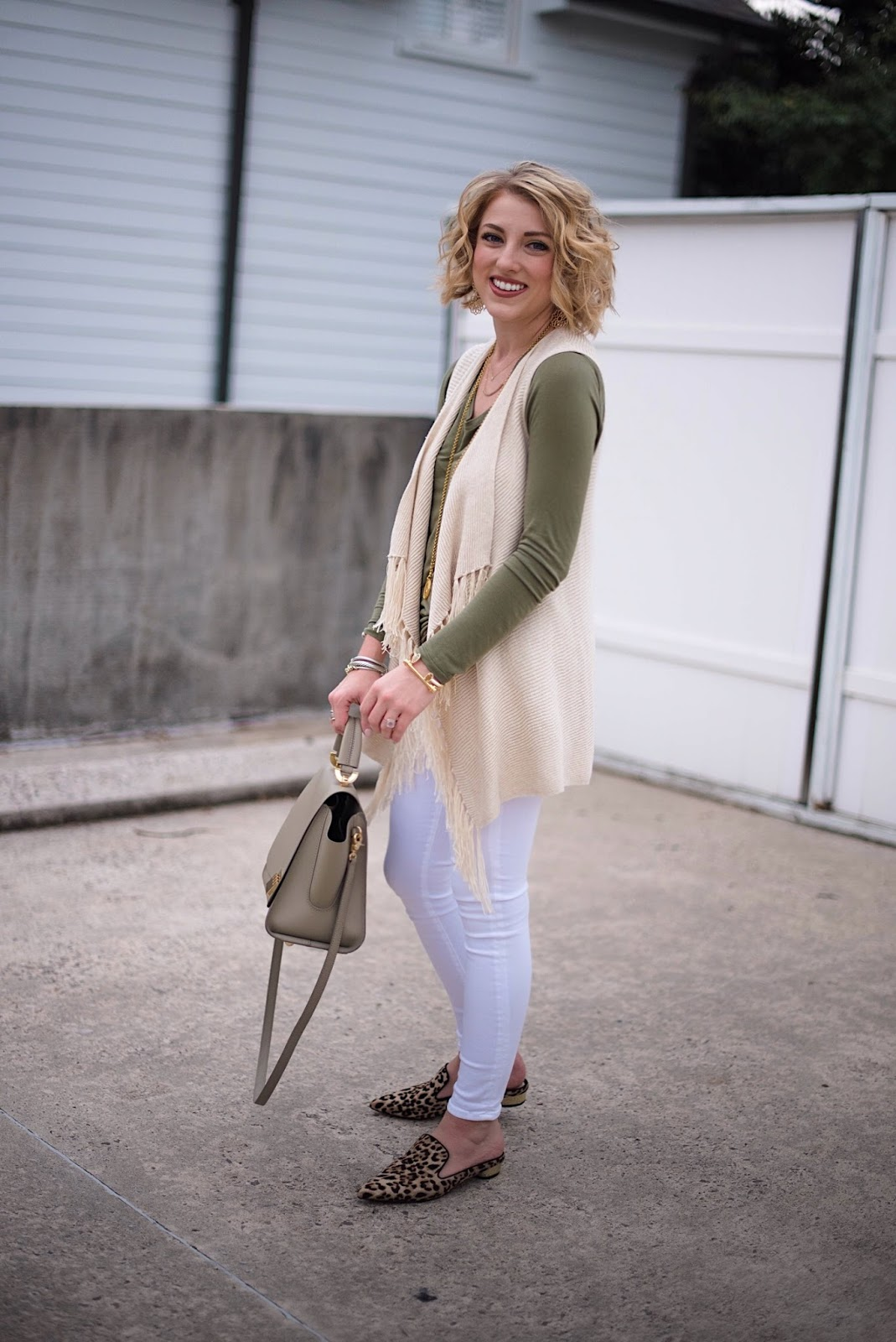Olive, White, Gold & Leopard - Something Delightful Blog
