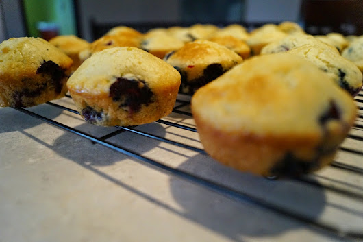 One-bowl Blueberry Muffins