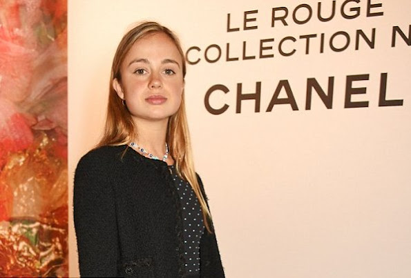 Lady Amelia Windsor, who was voted the most beautiful royal by Tatler, attended the launch of Lucia Pica's makeup collection for Chanel at Somerset House in the capital