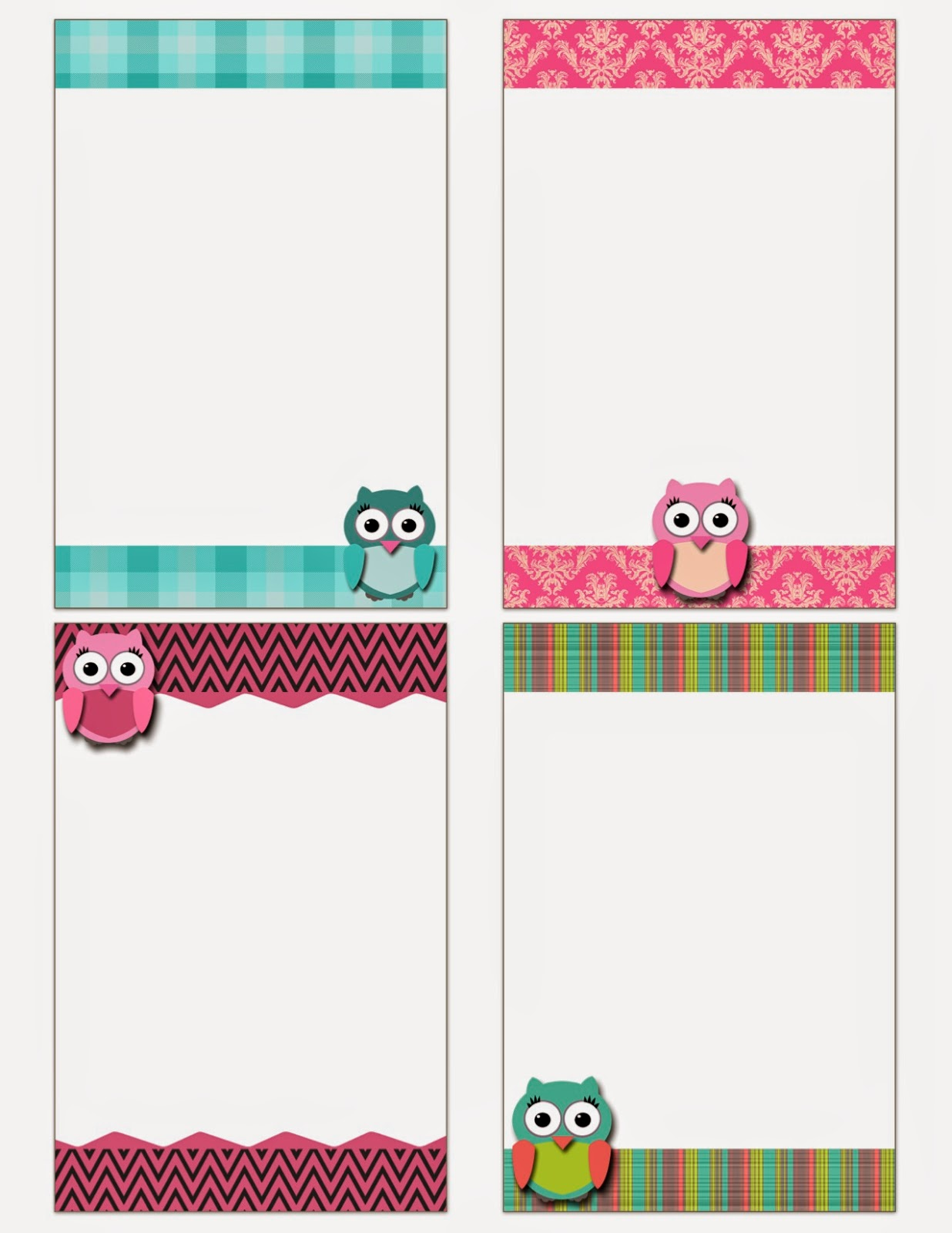 here are some free printable owl notecards i recently made download here or click on the image below enjoy - Printable Note Cards