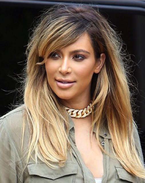 kim kardashian cabelo com frizz