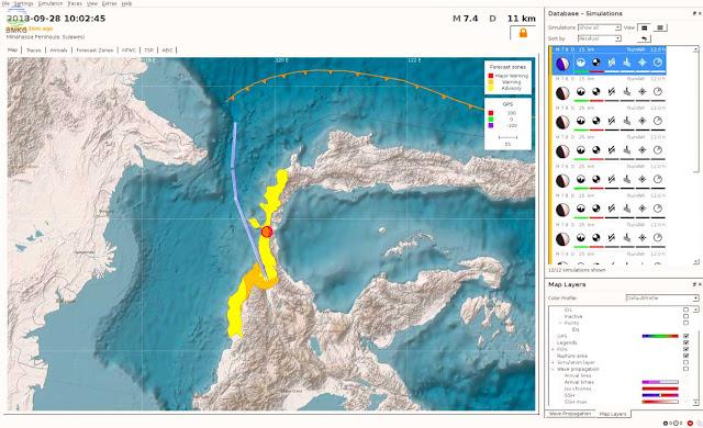 Gambar Peta Pemodelan Wilayah Berpotensi Tsunami
