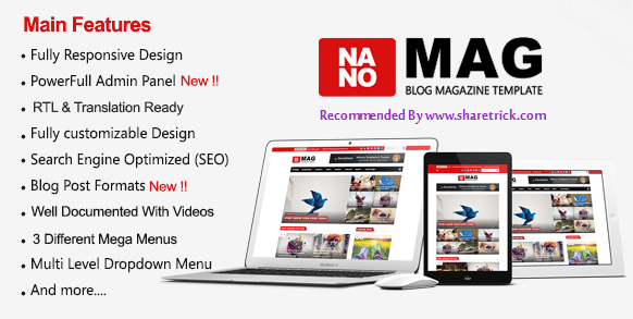 NanoMag is a simple, clean, modern and professional blogger template which is ideal for making a professional blog