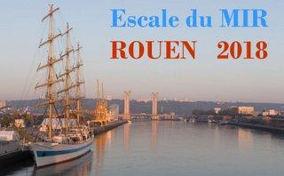 Photos de l'escale du voilier Mir à Rouen en 2018