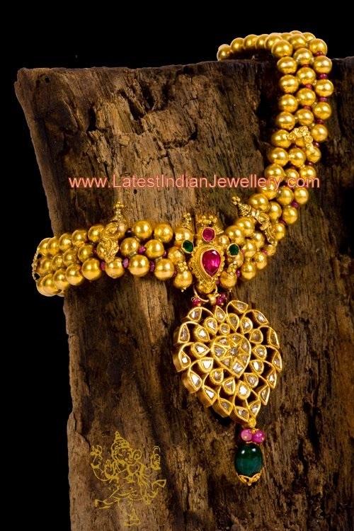 Antique Karnatak Gundu Mala Latest Indian Jewellery Designs
