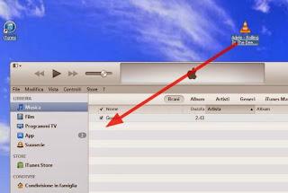 iTunes pannello