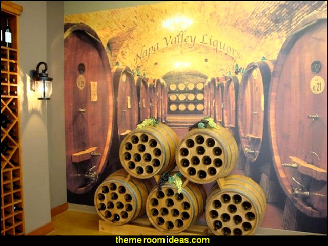 Tuscany Vineyard Style decorating - Tuscan Wall mural stickers - Tuscan themed kitchen accessories - grape decor - Tuscan theme decor - Wine barrel decor - rustic decor - Venice Italy decorating ideas - Italian Cafe - Old World  furniture - luxury bedding - tuscan themed bedroom decor - Tuscany kitchen decor
